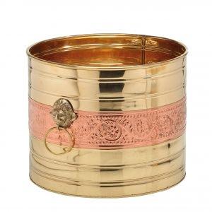 BUYERWELL Copper Brass Decorative Planter